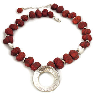 SILPADA Sterling and Sponge Coral Cruise Necklace